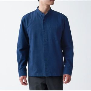 MUJI - Indian Cotton Oxford Stand Collar Shirt
